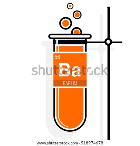 Barium Symbol On Label Orange Test Stock Vector 518974678 ... Barium Symbol