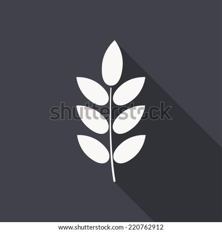 barley icon , vector illustration flat design - stock vector