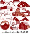 Barn Collection - stock vector