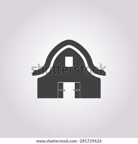 Barn icon. - stock vector