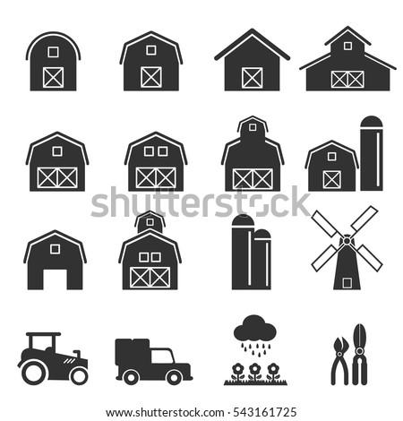 Barn Icon Vector Illustration Stock 543161725