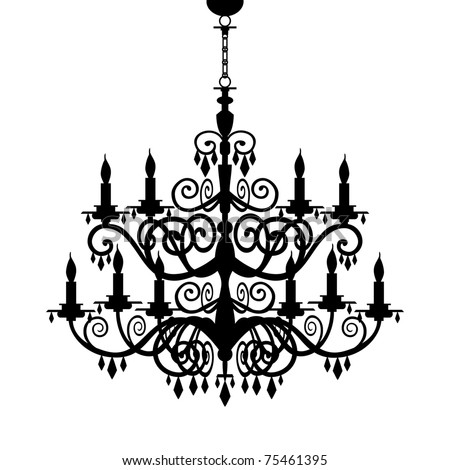 Chandelier Silhouette Stock Images, Royalty-Free Images & Vectors ...