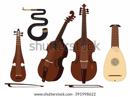 baroque musical instruments pictures
