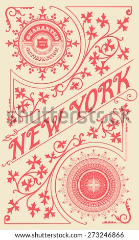 Baroque ornaments and floral details. Premium Quality design - stock vector