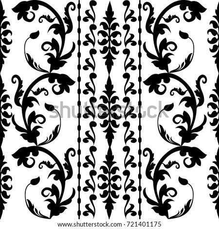 leaf scroll wallpaper vintage patterns - photo #17