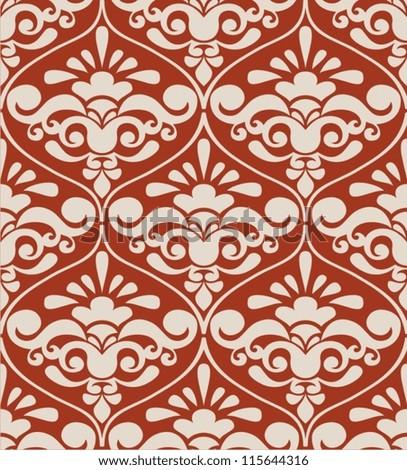 Baroque texture vintage - stock vector