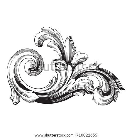 baroque vector vintage element design decorative stock vector rh shutterstock com filigree vector png filigree factory shop south normanton