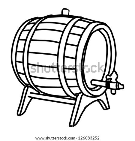 barrel - stock vector