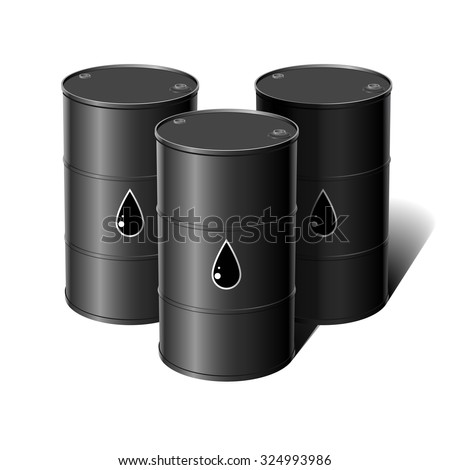 Barrel of oil. Vector illustration