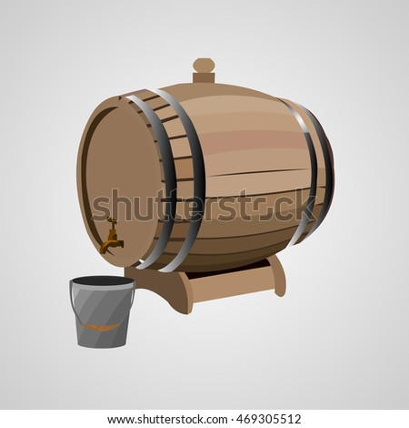 barrel with a tap