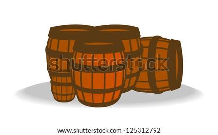 Barrels - stock vector