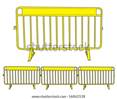 Barrier metal 1 - stock vector