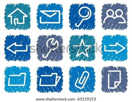 Base computer icons. Vector illustration