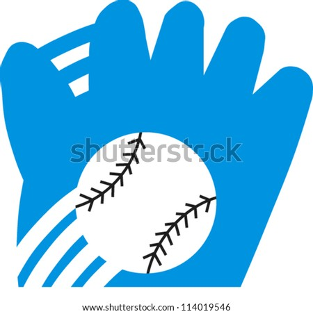 Baseball and glove - stock vector