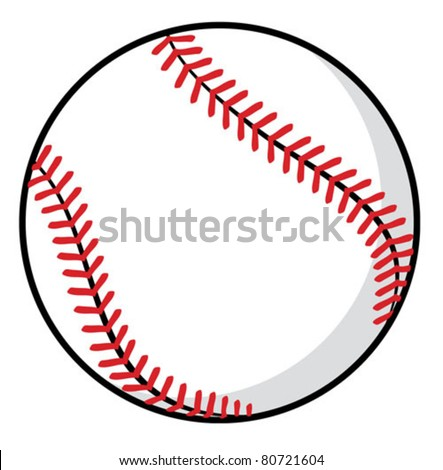 baseball ball - stock vector