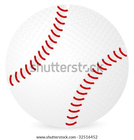 Baseball ball isolated on a white background. Vector illustration.