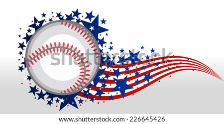 Baseball ball with stars - stock vector