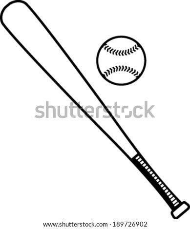 Baseball bat and baseball vector illustration - stock vector