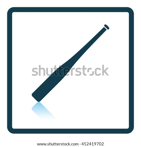 Baseball bat icon. Shadow reflection design. Vector illustration. - stock vector
