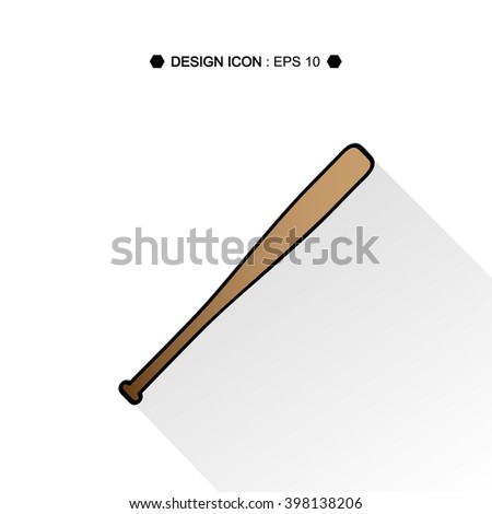 Baseball Bat Vector EPS10, Great for any use. - stock vector