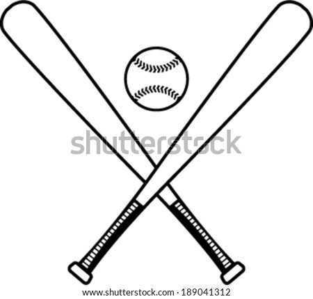 Baseball bats and baseball vector illustration - stock vector