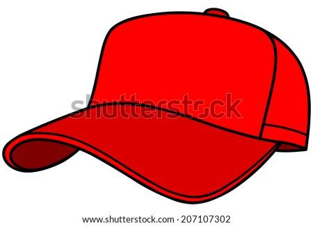 baseball cap stock photo photo vector illustration 207107302 rh shutterstock com blank baseball hat vector baseball hat vector template free