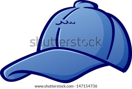 Baseball Cap Cartoon Hat Vector Illustration - stock vector