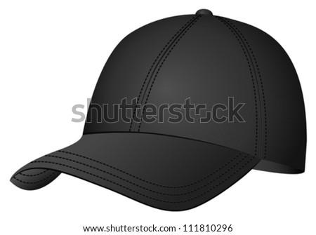 Baseball cap on white background. Vector illustration. - stock vector