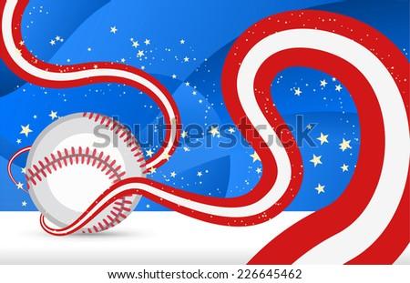 Baseball curves - stock vector