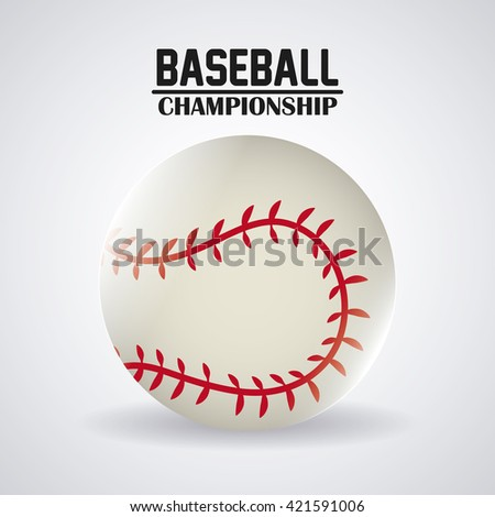 Baseball design. sport concept. Flat illustration