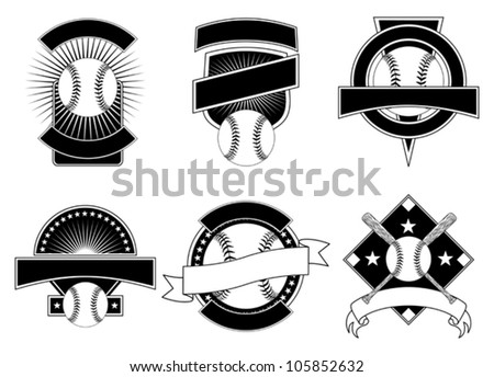 Baseball emblem stock images royalty free images for Baseball shirt designs template