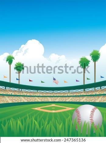 Baseball Game - stock vector