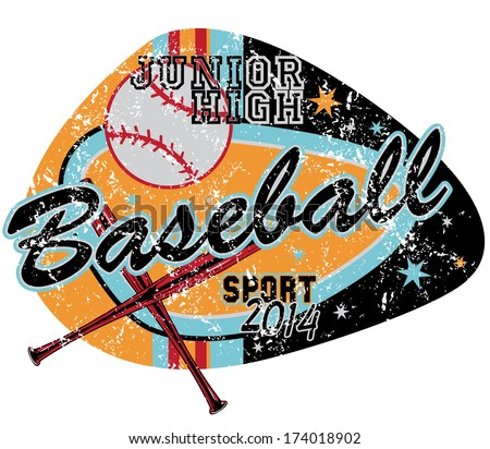 Baseball game /Also available in separate layer the original vector without scratch