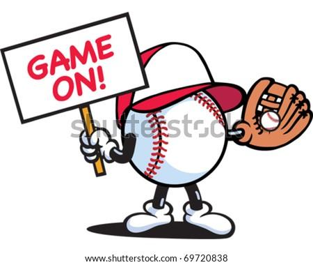 Baseball Guy - stock vector