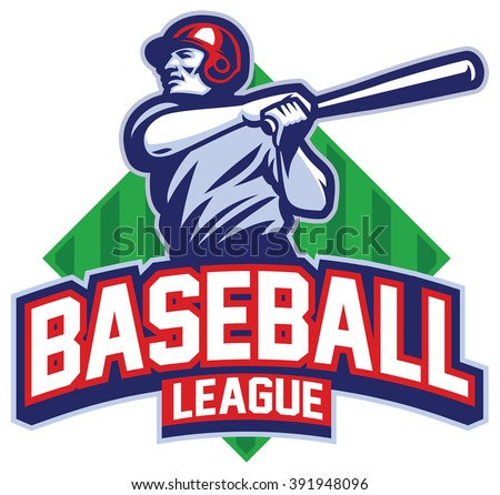 Baseball player hit the ball - stock vector