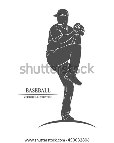 baseball players sport - stock vector