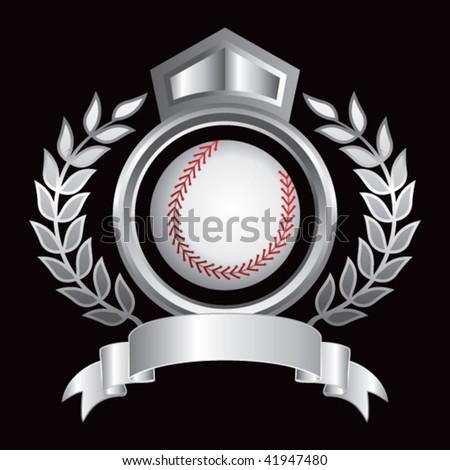 baseball silver royal display - stock vector