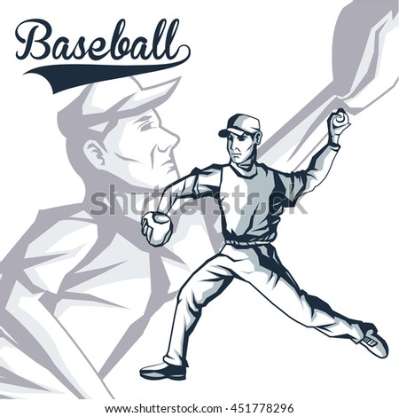 Baseball sport concept represented by cartoon player icon. Isolated and flat illustration.