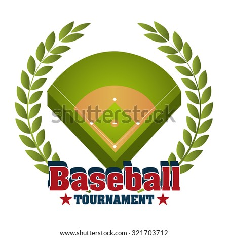 Baseball sport design over white background, vector illustration eps10.
