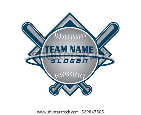 baseball team logo vectores en stock 539847505 shutterstock