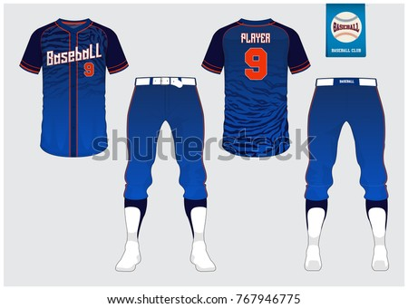 Baseball Uniform Sport Jersey Tshirt Sport Stock Vector 767946775 ...