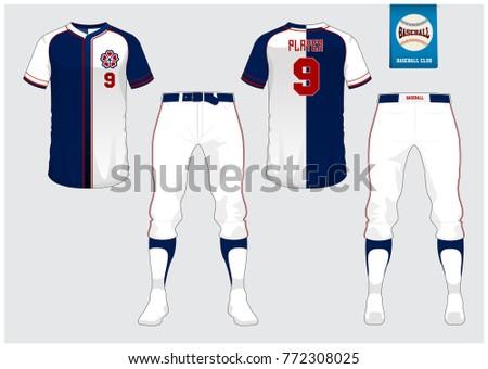 Baseball Uniform Sport Jersey Tshirt Sport Stock-Vektorgrafik ...