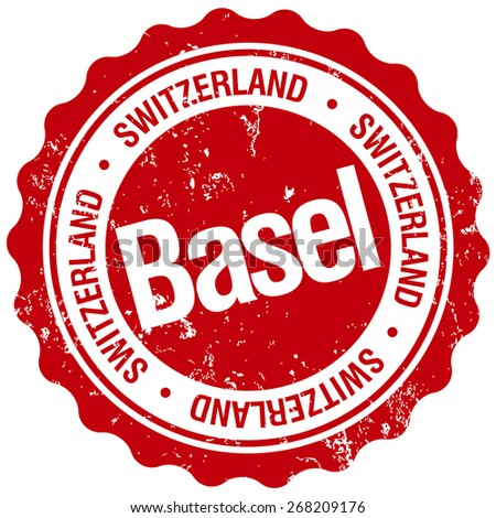 basel stamp - stock vector