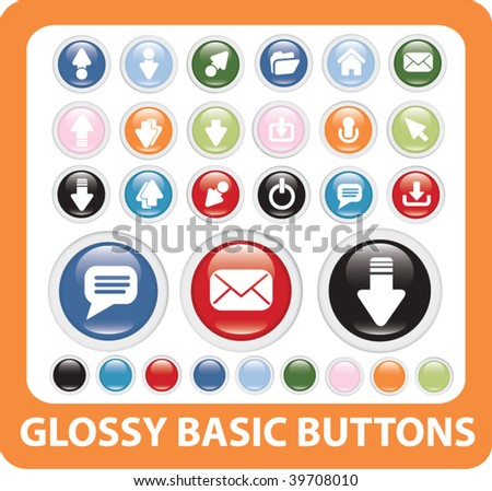 basic buttons. vector
