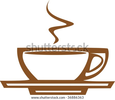 Basic coffee / espresso cup design good for posters or signs.