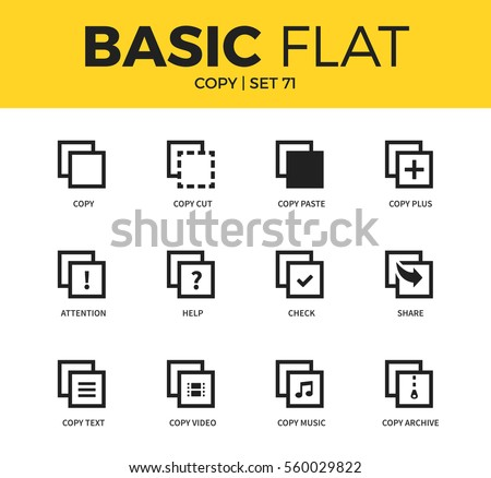 Basic Set Copy Video Form Copy Stock Vector 560029822 Shutterstock