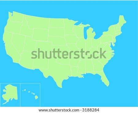 Vector Map United States Highlighting State Stock Vector - Basic us map