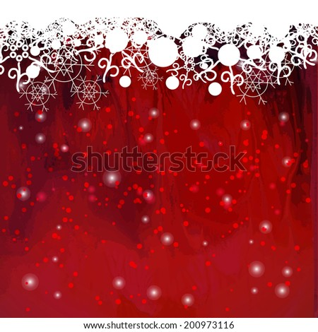 basis under the winter holiday background. - stock vector