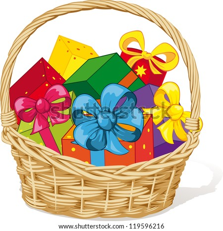Clip Art Gift Basket Clip Art gift basket stock photos royalty free images vectors shutterstock full of gifts
