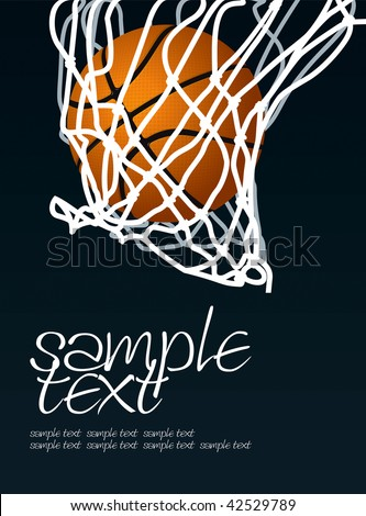 Basket 2 Vector Drawing - stock vector